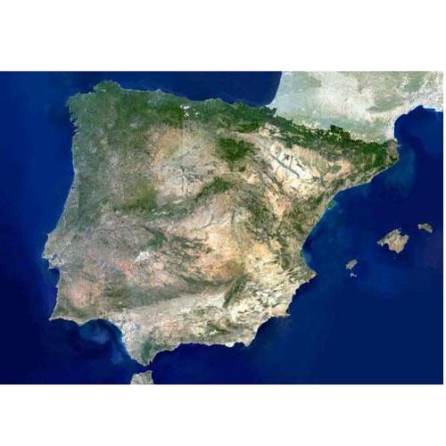 Espana Satelite 88x69 Mapas Murales Mapiberia F B