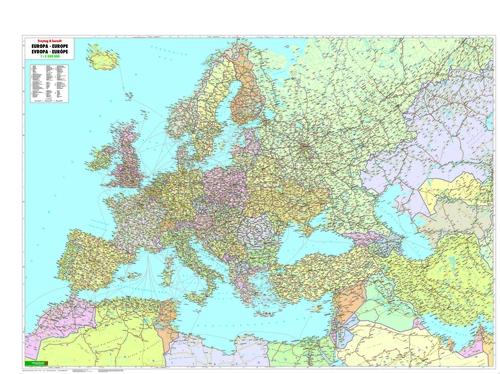 Mapa de Europa, Oriente Próximo, Asia central 1:5.500.000