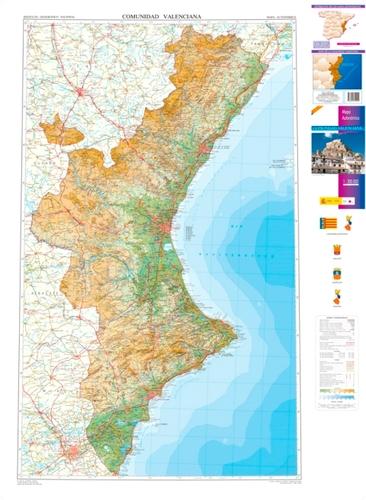 Mapa Topografico Comunidad Valenciana.Comunidad Valenciana Autonomico 1 300 000 Mapas