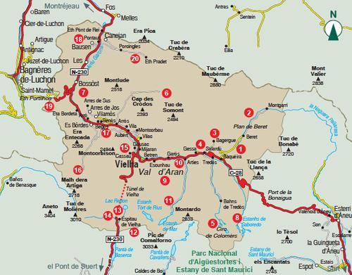 Turistico Valle De Aran Mapa.Los Caminos De Alba Vad D Aran Mapas Excursionistas Y