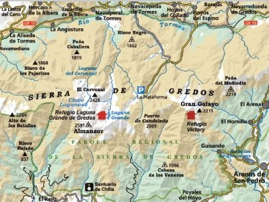 Sierra De Gredos Mapa.Sierra De Gredos 1 25 000 Mapas Excursionistas Y